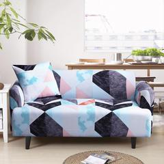 2018新款花色沙发套 90---140(单人) 水立方