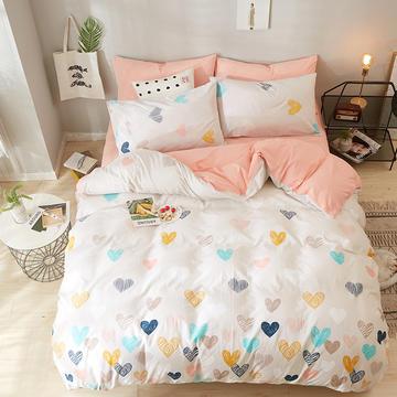 2018新款水洗棉印花系列四件套 1.5m(5英尺)床 美好
