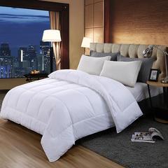 2018新款酒店布草星级宾馆酒店专用被芯全棉仿羽被子四季被春秋被 150x200cm3斤 白色