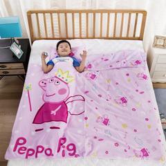 新款宝宝全棉防踢睡袋被儿童纯棉棉花芯睡袋四季款可拆洗 80*150cm 天使佩奇