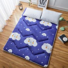 2018新款亲肤棉可折叠榻榻米床垫学生垫大床 90*200 微笑云朵