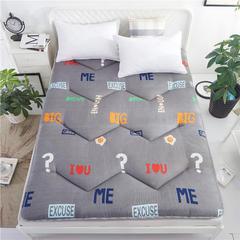 2018新款新款亲肤棉可折叠榻榻米床垫学生垫 90*200 字母