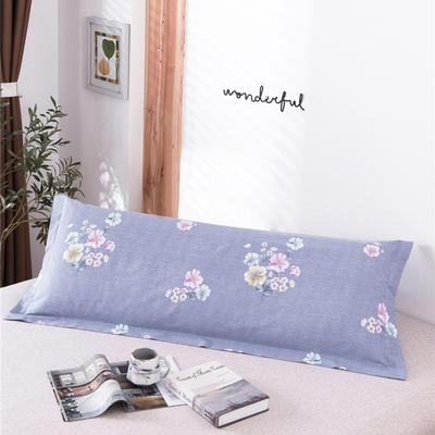 D26-双人枕套-纯棉磨毛双人枕套 120*45cm 蔓然灰紫