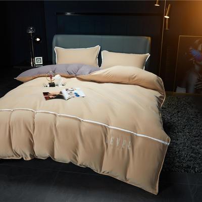 2020新款 RT01-麦尔呢绒四件套 1.5m(5英尺)床 卡其
