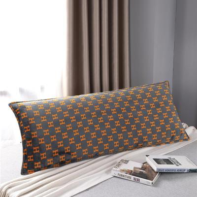 2020新款双人枕套-D14法兰绒印花 120*45cm 时尚风
