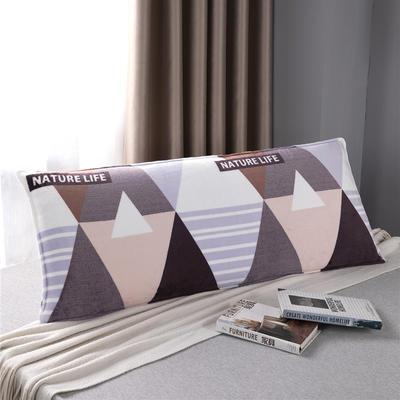 2020新款双人枕套-D14法兰绒印花 120*45cm 自然风