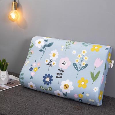 2020新款R02-全棉12868胶枕枕套波浪形乳胶枕套记忆枕枕套 40cmX60cm 微微公主-波浪枕套