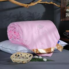 蚕丝被  桑蚕丝被 纯蚕丝被 蚕丝冬被 蚕丝子母被 200X230cm(2斤) 粉色