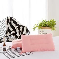 萌番宝 儿童水洗棉枕 50*30 粉色纯色