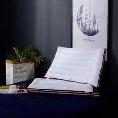 萌番宝 新版全棉保健枕-线条低枕 红黑