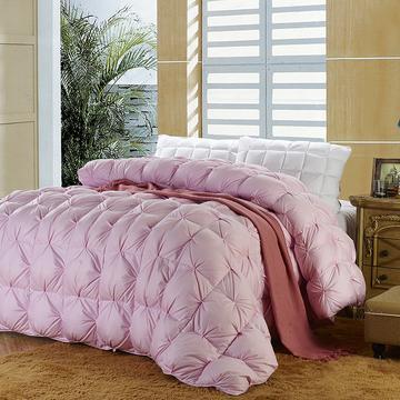 皮尔卡丹家纺    2018新品天丝棉扭花羽绒被 150x200cm 天丝棉扭花羽绒被(粉色)
