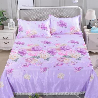 2019新款冰丝席床单 250*250cm 国色天香 紫