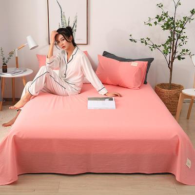 2019新款全棉水洗棉单床单 160cmx230cm 粉色