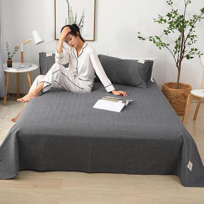 2019新款全棉水洗棉单床单 160cmx230cm 黑色