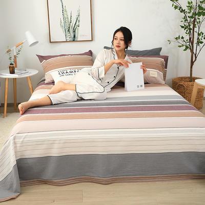 2019新款全棉水洗棉单床单 160cmx230cm 简约条纹