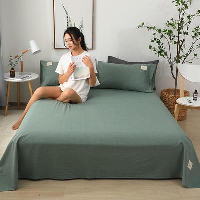 2019新款全棉水洗棉单床单 160cmx230cm 抹茶绿