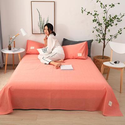 2019新款全棉水洗棉单床单 160cmx230cm 胭脂粉