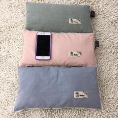 无印良品水洗棉儿童米壳枕 纯色-蓝35*20cm/一只