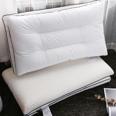她喜愛 米約薩羽絲絨乳膠枕二合一 48*74cm 白色/只