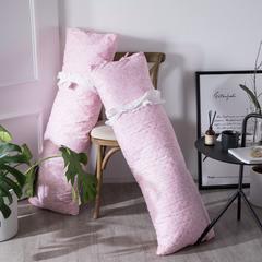 2019新款简约风保健枕枕芯长枕-美妮娜 120*48cm 粉色/只