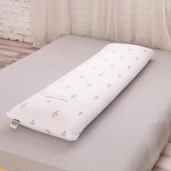 2018新款泰国皇家1.5m长枕乳胶枕 130*40cm 白色/只