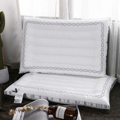 立體織帶時尚全棉絎繡低枕-菲·簡素48*74CM 菲·簡素