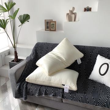 高端大豆纤维极奢枕 48*74cm 有机大豆提花枕芯枕头