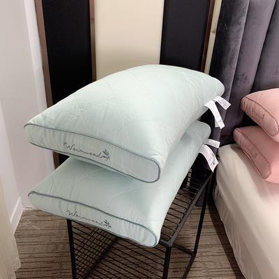 天然艾草抗菌护理枕 低平枕 两款可选 两色可选 48*74cm 护理款-灰蓝色/只