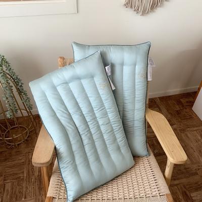 天然艾草抗菌护理枕 低平枕 两款可选 两色可选 48*74cm 低平款-灰蓝色/只