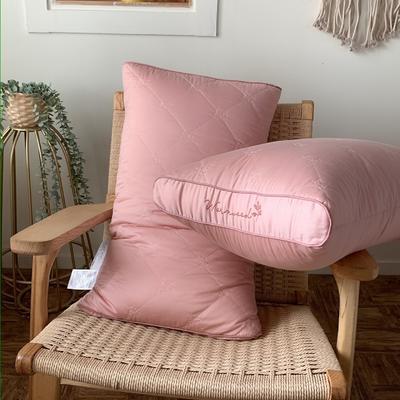 天然艾草抗菌护理枕 低平枕 两款可选 两色可选 48*74cm 护理款-古杏色/只