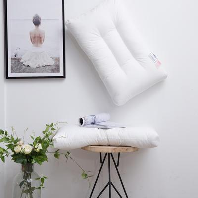 优真深睡眠全棉水洗枕 全棉水洗定型枕芯舒适护颈枕可水洗枕机洗单人枕头 全棉水洗枕高定款 白色/只