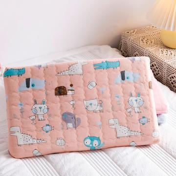 婴幼儿乳胶枕头 双层可调节乳胶儿童枕枕芯枕头 适合0-6岁宝宝 高度可调节45×27㎝*2/4cm