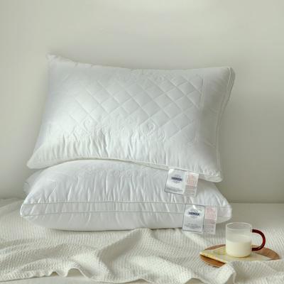 60S全棉贡缎立体枕芯 超细1.33D仪征羽丝绒亲肤透气枕芯 60S全棉贡缎立体枕芯48×74 白 白