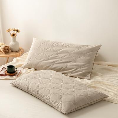 2021新款彩棉可调节全荞麦枕芯 纯荞麦枕头 原生态彩棉枕 全荞麦枕头枕芯48*74cm/只 图片色