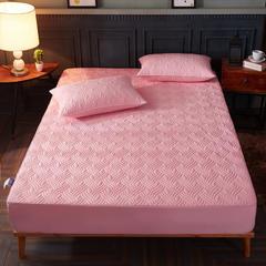 全棉斜纹,133x72夹棉床笠 100cmx200cm(需定做,可退换) 玉色水纹