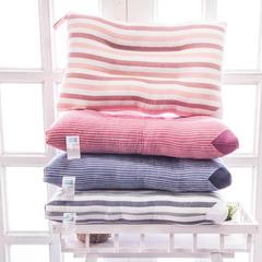 2018新款12- 宽细条纹水洗棉枕 蓝细条