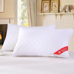 2018新款-立体绗缝羽丝枕48*74 白色/一个