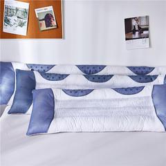 2018新款磁疗长枕 白布灰网1.2m /个