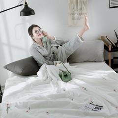 色织水洗棉精致刺绣系列夏被 150x200 小雏菊白
