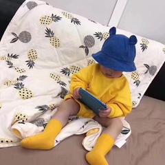 韩国ins水洗棉菠萝儿童夏被 110X150cm 水洗棉夏被菠萝