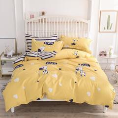 2019新款-床裙四件套 四件套1.2m(4英尺)床 长颈鹿多多