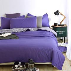 2018新款-全棉斜纹色布13372面料 宽幅 250cm 紫色  浅灰