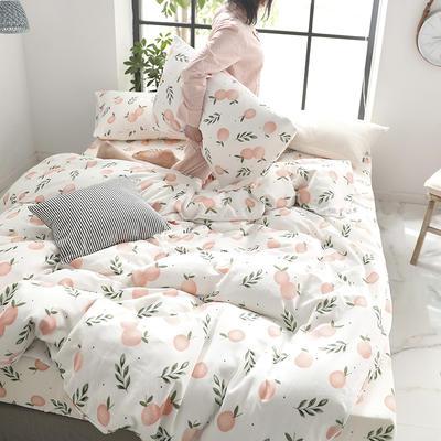 2019新款纱布印花四件套 1.2m(4英尺)床 清新橘