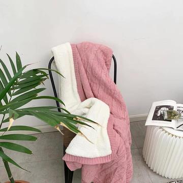2019新款加厚英伦针织毯