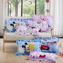 花边儿童枕全棉卡通幼儿枕芯宝宝新生婴儿定型枕头纯棉保健枕芯30*50 其它 30*50花边儿童枕颜色随机