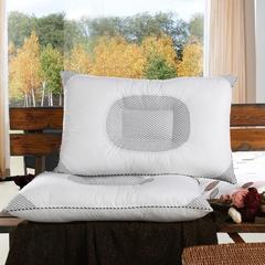 凹形透气枕四角网格多功能枕芯全棉单人保健护颈枕头46*72 凹形透气枕