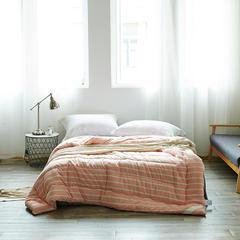 全棉色织水洗冬被新款 220x240cm/8斤 3394绅士迷粉