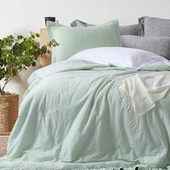 2018新款-全棉水洗棉夏被 200X230cm 浅绿