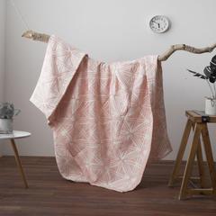 无印良品2018新款全棉色织水洗空调被 115X150cm 英伦风-粉