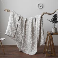 无印良品2018新款全棉色织水洗空调被 115X150cm 英伦风-灰